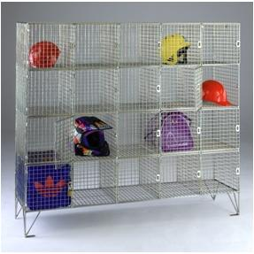 Wire mesh 20 compartment Personal effects locker