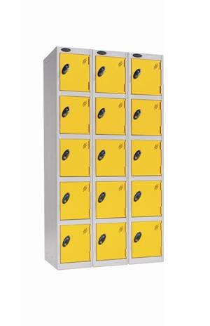 Five Door Locker -Nest of 3