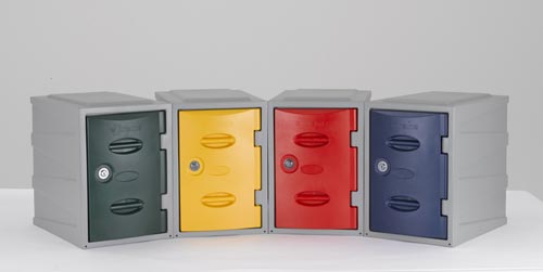 New Plastic School Lockers Closed Vent