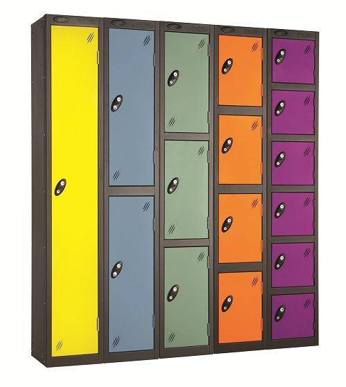 School Colour Range Six Door Locker