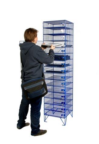 Laptop storage- Wiremesh Lockers