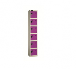 School Colour Range Six Door Locker